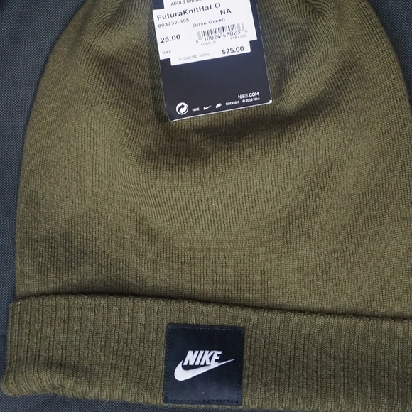 1d4dcce6c34 nike olive beanie
